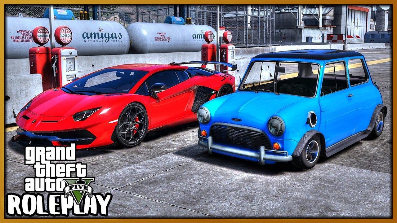 GTA 5 Roleplay - Drag VTEC Mini Cooper 'DESTROYS' Lamborghini SVJ | RedlineRP #705