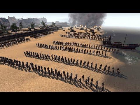 Evacuation Defense of Dunkirk 1940 | RobZ Realism | Men of War: Assault Squad 2 Gameplay