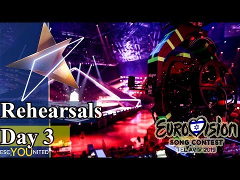 Eurovision 2019 Rehearsals - Day 3 Live Stream (From Press Center)