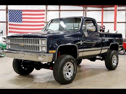 1982 Chevy Silverado K 10 Dark Blue