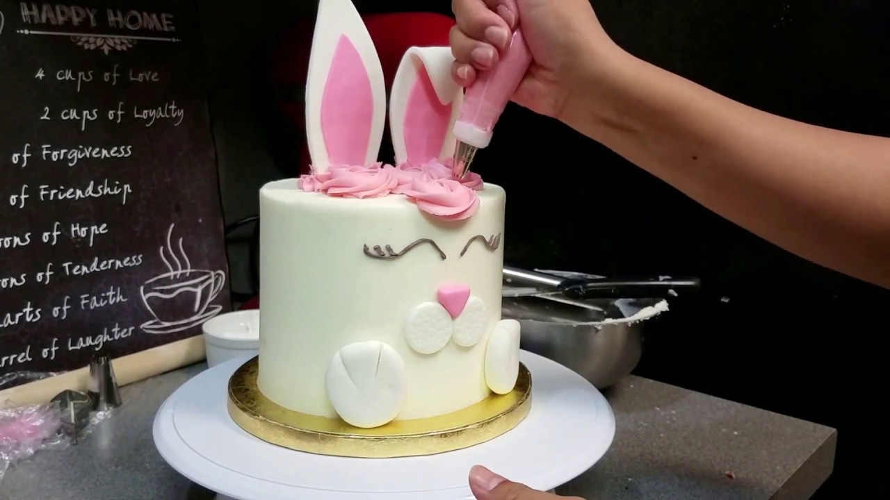 Easter Bunny Cake Template