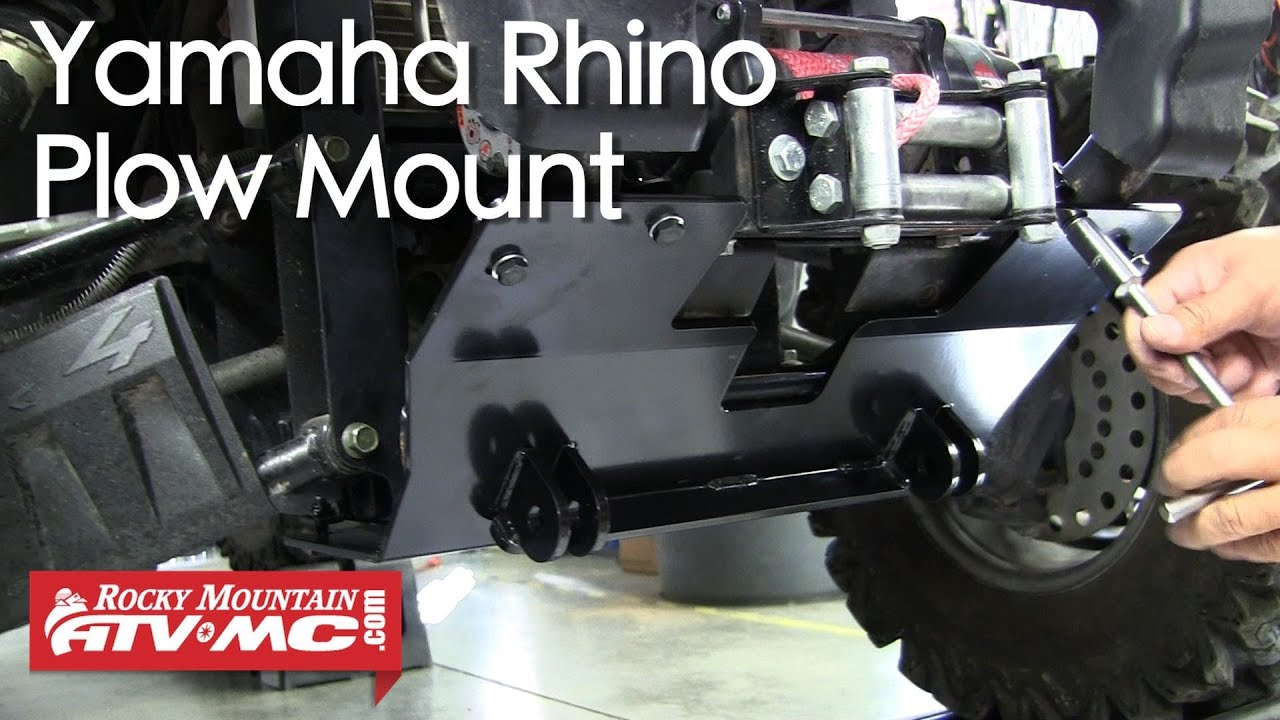 How To Install A Tusk SubZero UTV Snow Plow Mount On A Yamaha Rhino