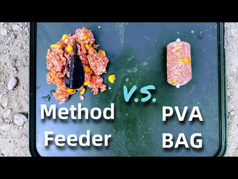 Carp Fishing With The METHOD FEEDER Vs. PVA BAG
