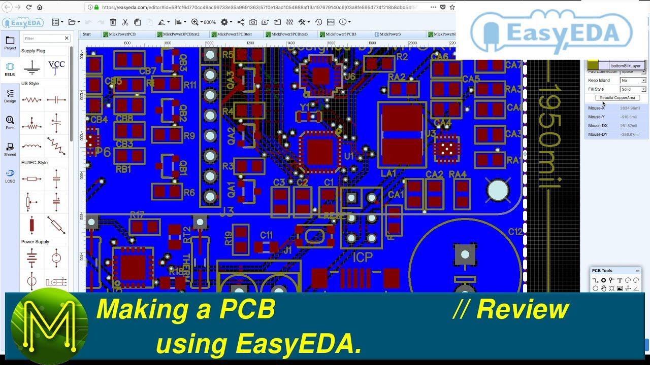 #184 Making a PCB using EasyEDA  // Review