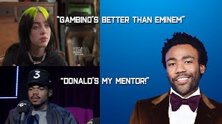 Celebrities Talk About Childish Gambino/Donald Glover (Chance The Rapper, Joel McHale and more)