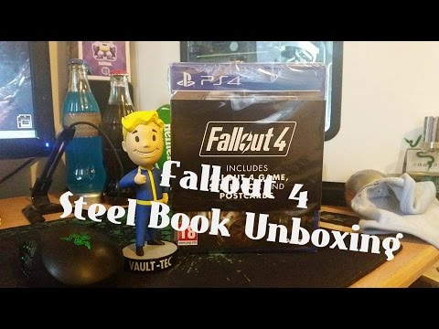 Fallout 4 Steel Book Unboxing For PS4 & Bobble Head