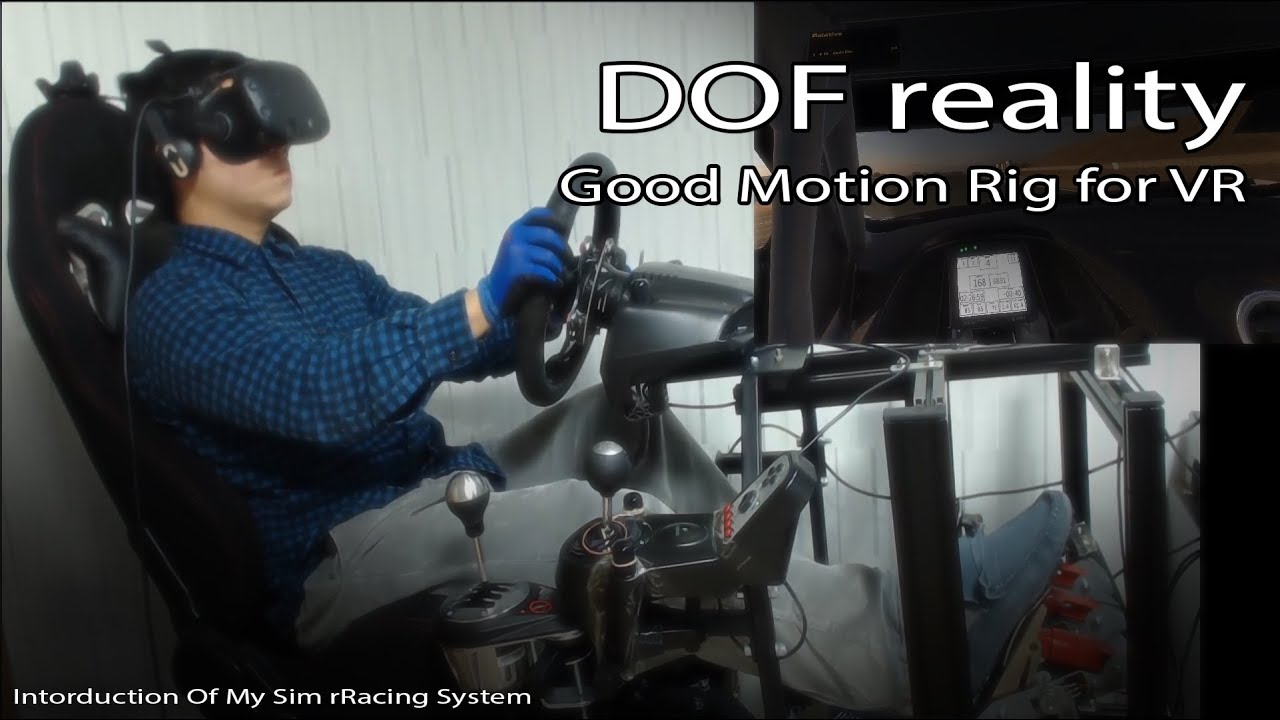 [Sim Racing] DOF reality V3,Good motion rig for VR, Introduction of my  system