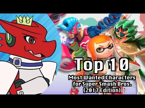 Top 10 Most Wanted Characters for Super Smash Bros. (2017 Edition)