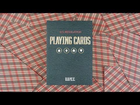 Vintage Plaid Arizona Red Playing Cards by Dan&Dave | Deck Review -Display