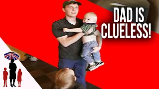 Dad Has No Idea What It Takes To Look After Children | Supernanny USA