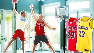 Beat me 1v1 on the Mini Hoop, Win a Jersey!