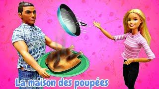 Barbie et Ken. Le grande ménage dans la maison. Vidéo drôle en français.