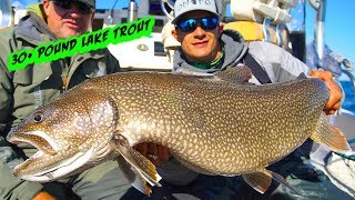 30 lbs LAKE TROUT (fishing 200 feet of water!)