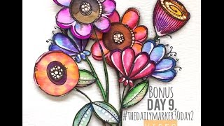 Zig Clean Brush Water Color Markers - How To #thedailymarker30day2