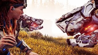 Horizon Zero Dawn Gameplay - Killing A BEHEMOTH With A ROCK (Horizon Zero Dawn Tips And Tricks)