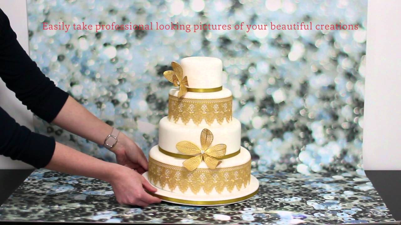 Bakedrops Vinyl Photography Backdrops For Cakes Youtube