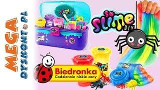 Slime DIY • Tęczowe kreacje • Fabryka i walizka • Biedronka