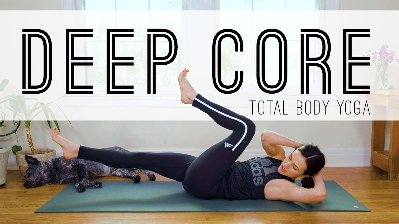 Total Body Yoga Deep Core Yoga With Adriene Youtube