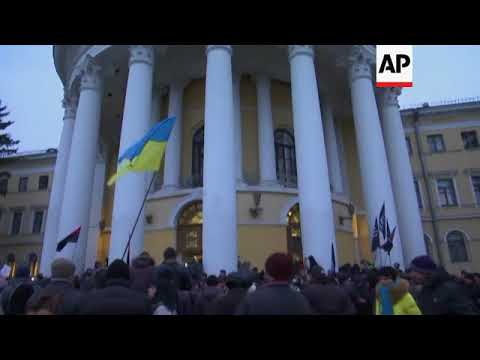 Clashes as Saakashvili supporters try to seize building in Ukraine