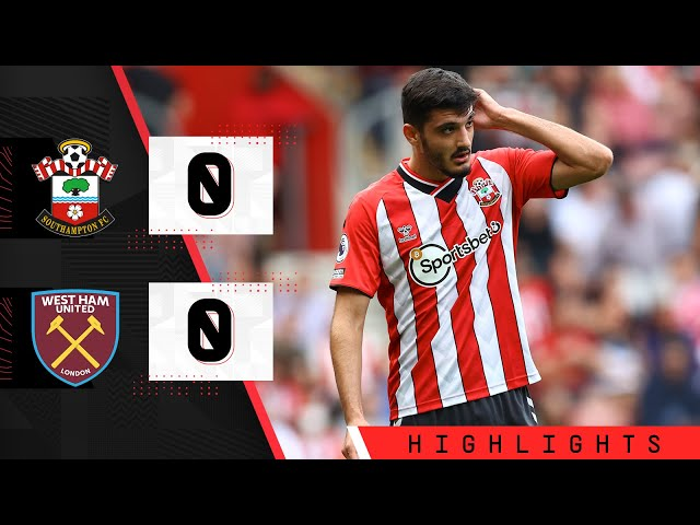 90-SECOND HIGHLIGHTS: Southampton 0-0 West Ham United   Premier League