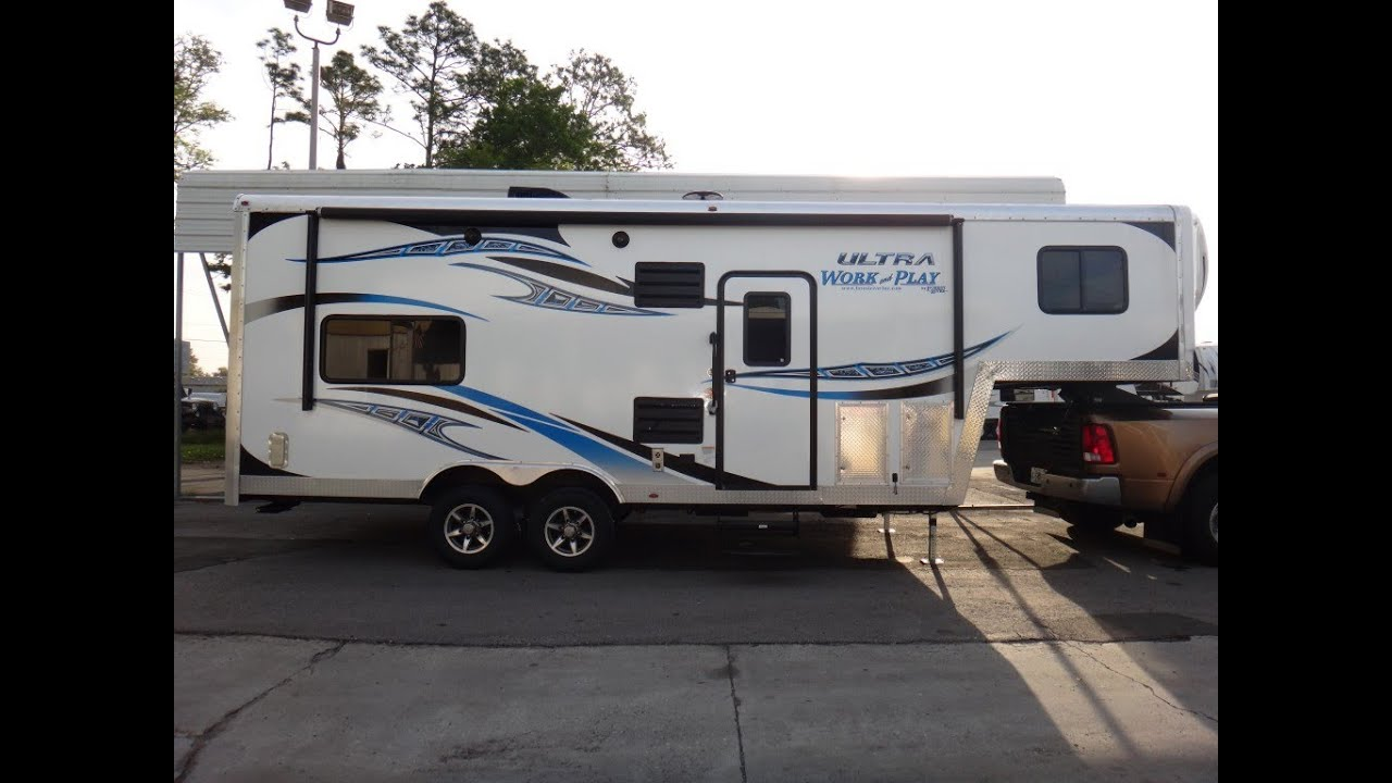 Work And Play Toy Hauler >> 2014 Forest River Work and Play 27UL - YouTube