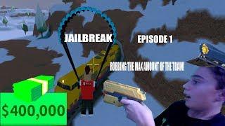 ROUBANDO O MAX AMMOUNT DO TREM! | Roblox, Jailbreak #1