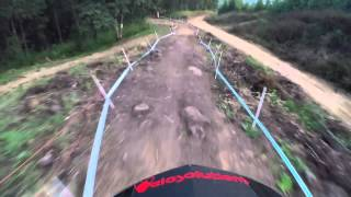 Downhill MTB GoPro footage through intense South African trail