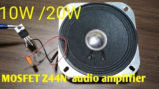 Audio amplifier circuit with mosfet z44 video, Audio