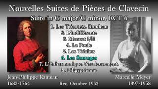 Rameau: Clavecin Suite in G major, Meyer (1953) ラモー クラヴサン曲集組曲ト調 メイエ