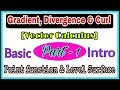 ◆Gradient, divergence and curl in vector calculus | May, 2018