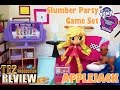 Review My Little Pony Equestria Girls Minis APPLEJACK Slumber Party Game Set