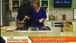 Bacon Wrapped Banana With Caramel Sauce