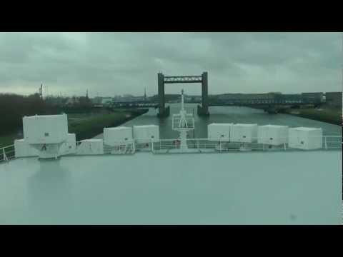 Time Lapse: Hoegh Trader aankomst Rotterdam via Calandbrug naar RCT.