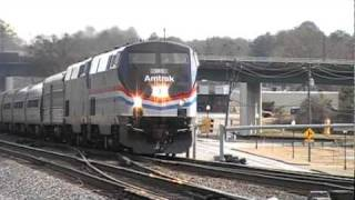 The Amtrak Crescent #19 w/ Brand New 145 Phase 3 Heritage & Big Moe Show! Austell,Ga 02-05-2011©