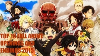 TOP 10 FALL ANIME 2015 OPENINGS AND ENDINGS