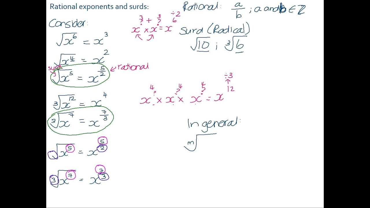 Rational Exponents And Surds