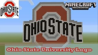 Minecraft: Pixel Art Tutorial and Showcase: Ohio State University Logo