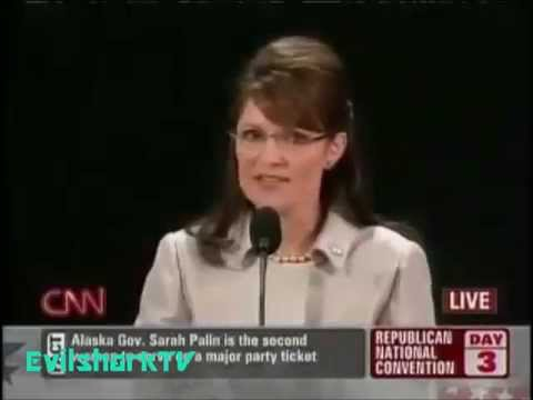(YouTube poop) Sarah Palin dumb speech
