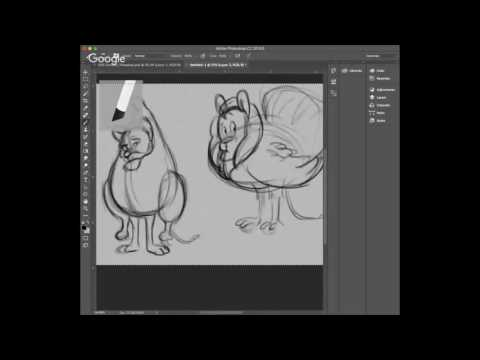 "Daily Lion #1 ""Turkey Day"" Character Design in Photoshop LIVE"