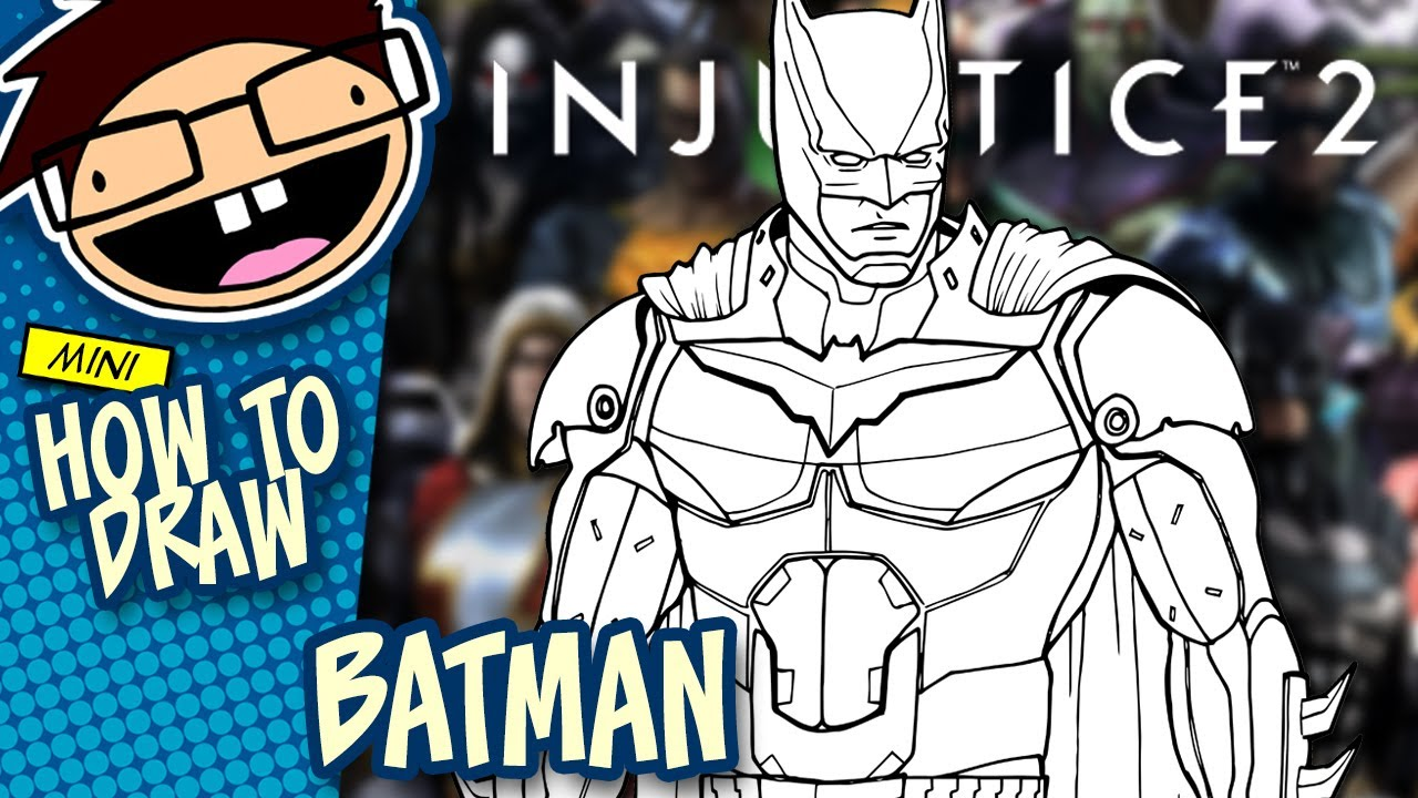 How To Draw BATMAN Injustice 2