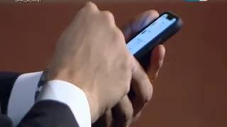 الساحر عزام يخترق بيانات موبايل عمرو الليثي ويعرف اسم صاحب اخر محادثة مع مين