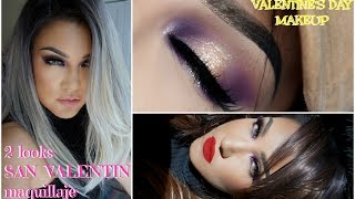 2 looks Maquillaje SAN VALENTIN / Valentine's Day Makeup tutorial   auroramakeup