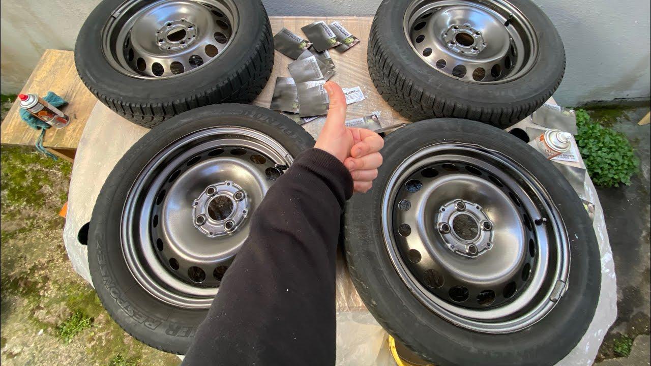 PKW Stahl Felgen folieren mit Foliatec 2062 Sprüh Folien Set einfach, kostengünstig und schnell DIY
