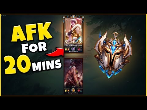 PRO PLAYER VS. IRON 1V1, BUT THE PRO HAS TO AFK FOR 20 MINUTES - League Of Legends