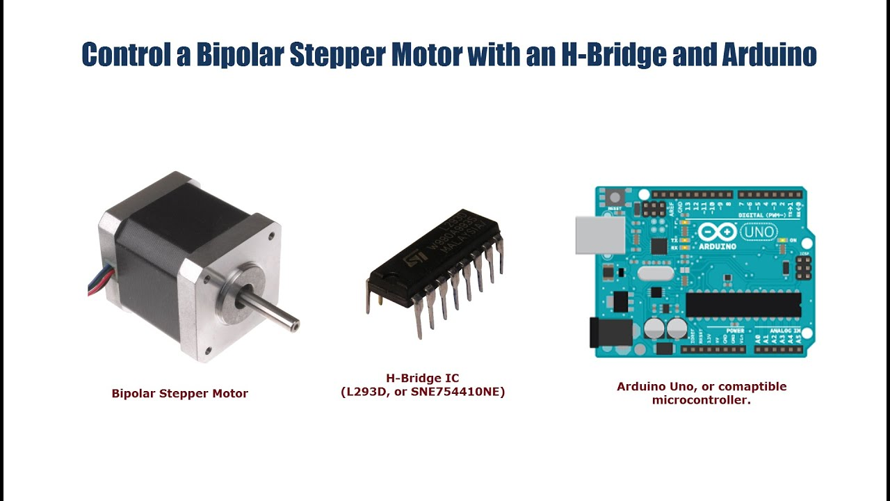 bipolar stepper motor control with an arduino and h bridge [ 1280 x 720 Pixel ]
