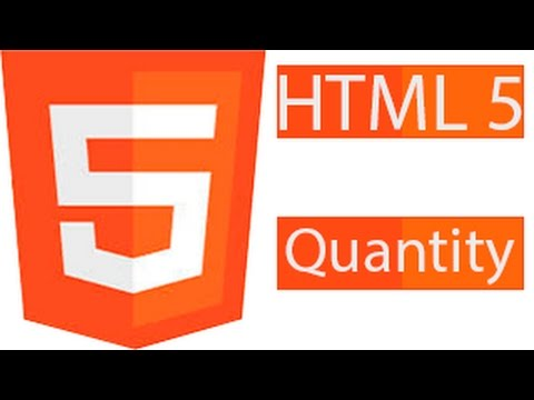 HTML5 Forms Input Quantity  Number Min And Max