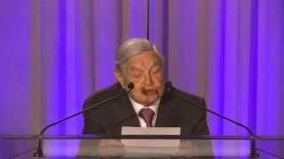 Crisis group's co-founder george soros presented the fred cuny award for prevention of deadly conflict to emma bonino. italian stateswoman was se...