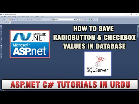 ASP NET C# Tutorial In Urdu - Saving RadioButton & CheckBox values in the database