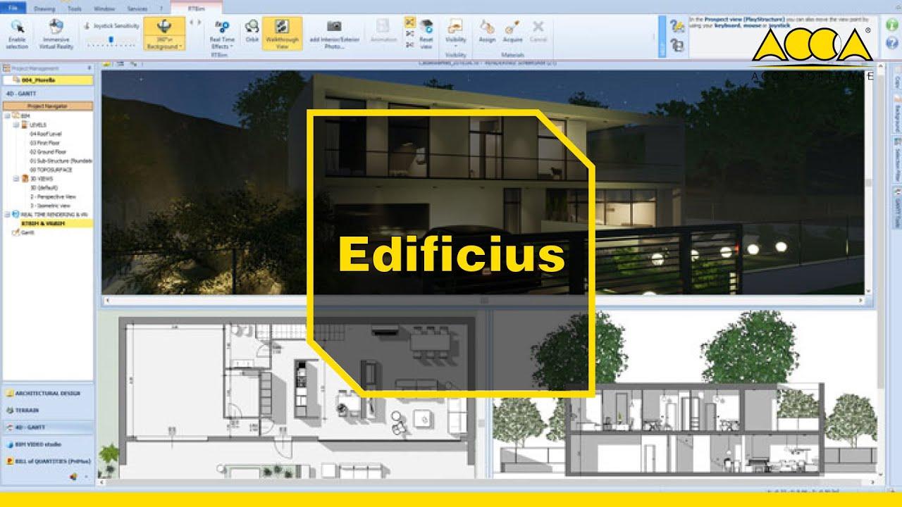 Architecte Jardin 3D Gratuit logiciel bim pour l'architecture | edificius | acca software