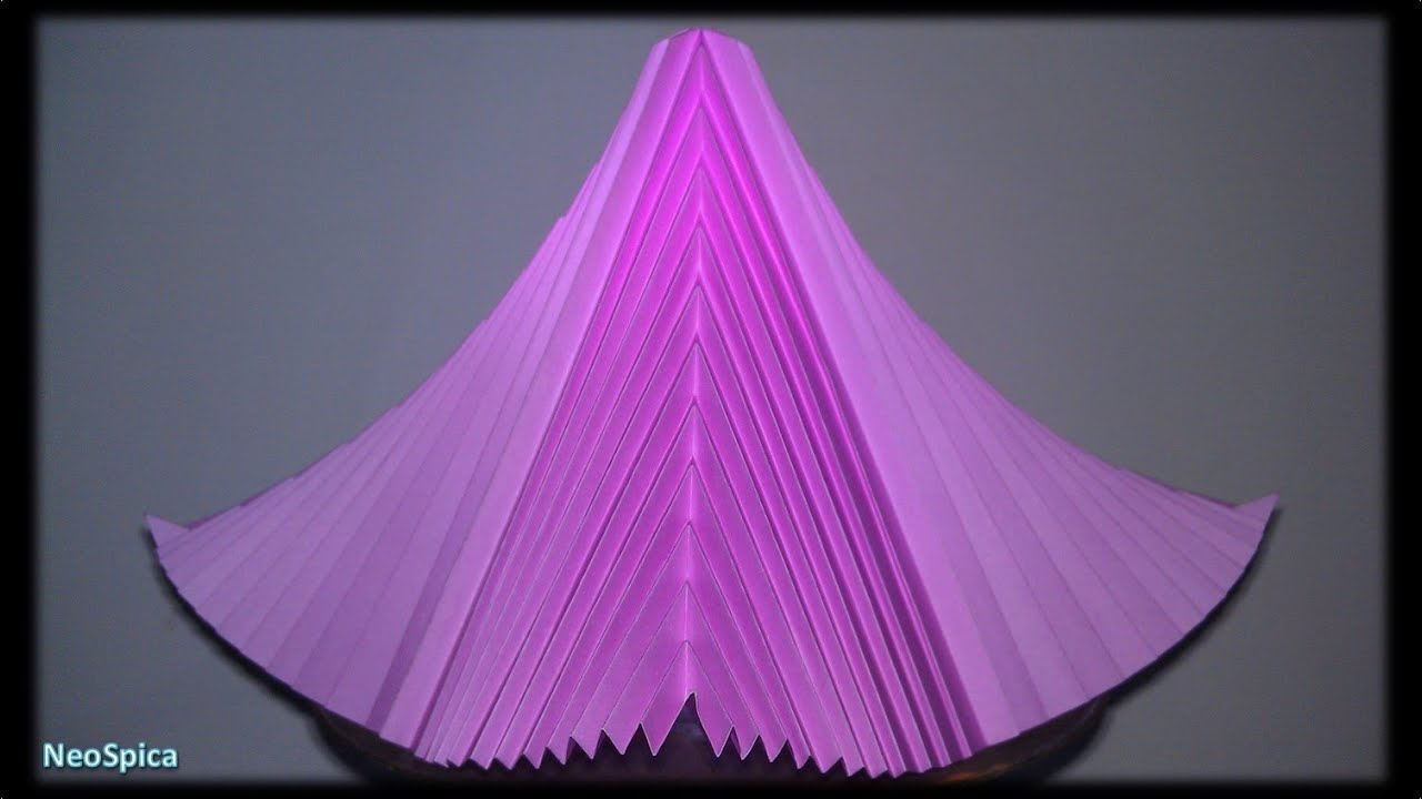 Tutorial 31 curved pyramid of paper with v pleats symmetrical tutorial 31 curved pyramid of paper with v pleats symmetrical folding two angles youtube jeuxipadfo Image collections